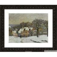 Alfred Sisley - La place du chenil a marly  40cm X 50cm