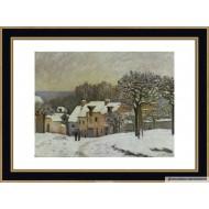 Alfred Sisley - La place du chenil a marly  50cm X 70cm